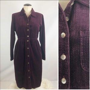 Vintage LL Bean Corduroy Dress